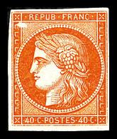 ** N°5A, 40c Orange, Avec Variété 'abeille', Fraîcheur Postale, SUPERBE (signé/certificats)  Qualité: ** - 1849-1850 Cérès