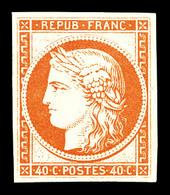 ** N°5g, 40c Orange, Impression De 1862, Fraîcheur Postale. SUP (certificat)  Qualité: ** - 1849-1850 Cérès