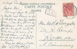 Nederlands Indië / Nederland - 1912 - 5 Cent Wilhelmina Op Ansicht GR Postagent Rotterdam-Batavia Verzonden SS Tambora - Niederländisch-Indien