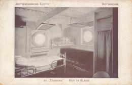 Nederland - Rotterdamsche Lloyd - Fotokaart SS Tambora - Hut 1e Klasse - Dampfer