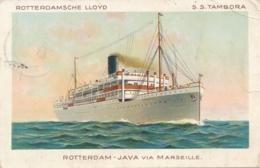 Straits Settlements / Nederland - Rotterdamsche Lloyd - SS Tambora - Postcard Sent From Singapore Naar Breda - Passagiersschepen