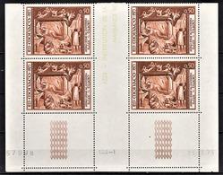 MONACO 1973 - BLOC DE 4 TP / N° 936 - NEUF** COINS DE FEUILLE / DATE - Monaco