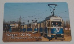 Poland Pologne Cracow Cracovie 1-month Ticket Billet 1 Mois  Tramway Tram 102Na  2001 - Week-en Maandabonnementen