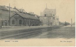 BINCHE : La Gare - TRES RARE VARIANTE - Cachet De La Poste 1906 - Binche