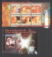 BC407 2010 GUINEE GUINEA SPACE HUBBLE TELESCOPE 1KB+1BL MNH - Altri