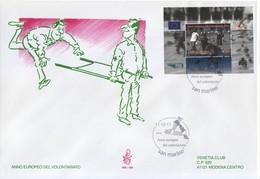"""2011 - FDC """" ANNO EUROPEO DEL VOLONTARIATO """" VENETIA VEDI++++ - FDC"""