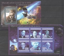 BC409 2010 GUINEE GUINEA SPACE TELESCOPE SPATIAL HUBBLE 1KB+1BL MNH - Altri