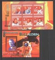 BC410 2010 GUINEE GUINEA SPACE BUZZ ALDRIN 80TH ANNIVERSARY 1KB+1BL MNH - Altri