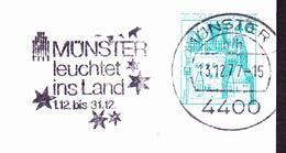 BRD FGR RFA - Maschinenwerbestempel Münster Leuchtet Ins Land 1977 Immer Kompl. Postkarte - [7] République Fédérale
