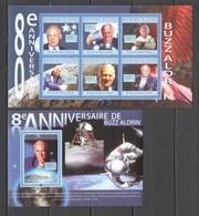 BC411 2010 GUINEE GUINEA SPACE BUZZ ALDRIN 80TH ANNIVERSARY 1KB+1BL MNH - Altri