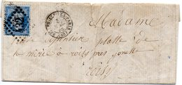 Seine - LAC Affr N°22 Obl GC 432 C 15 Belleville-les-Paris - Marcophilie (Lettres)