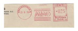 Deutschtes Reich AFS - BRAUNSCHWEIG, MIAG - Amme Luther Seck 1938 - Machine Stamps (ATM)