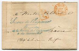 RC 14975 FRANCE 1864 FRANCHISE SERVICE DE L'EMPEREUR MINISTRE DE LA MAISON DE L'EMPEREUR & DES BEAUX ARTS SUR LETTRE - 1849-1876: Classic Period