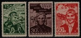 Russia / Sowjetunion 1939 - Mi-Nr. 690-692 ** - MNH - Moskau - Ferner Osten (2) - 1923-1991 UdSSR