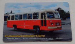 Poland Pologne Cracow Cracovie 3-month Ticket Billet 3 Mois Bus San H01  2008 - Abonnements Hebdomadaires & Mensuels