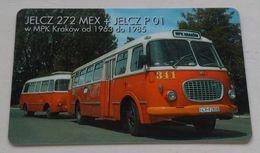 Poland Pologne Cracow Cracovie 2-month 2 Lines Ticket Billet 2 Mois 2 Lignes Bus Jelcz 272 MEX  2002 - Week-en Maandabonnementen