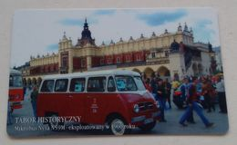 Poland Pologne Cracow Cracovie 1-month Ticket Billet 1 Mois Minibus Nysa N59M  2008 - Abonnements Hebdomadaires & Mensuels