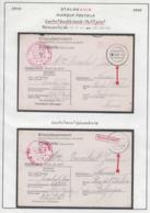 Belgique 1942 Stalag XIII A- Marque Postale. Cachet Double Cercle- Petit Pont...............  (VG) DC5278 - WW II