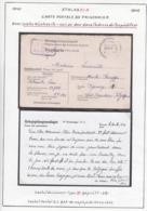 Belgique  Stalag XI A- Carte Postale De Prisonnier Ave: Siehe Rückseite ........  (VG) DC5281 - WW II