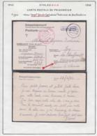 """Belgique 1943 Stalag XIII A- Carte Postale De Prisonnier. Avec """"Dept."""" (abrégé) Adresse Destinataire..  (VG) DC5287 - WW II"""