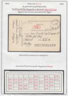 Belgique 1941 Stalag XIII A- Au Départ Ou à L' Arrivée. Petit Cachet Rectangulaire 21x10........ (VG) DC5291 - WW II