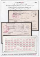 Belgique 1942 Stalag XIII A- Au Départ Ou à L'arrivée. Grand Cachet-Simple Cercle D.33-Avec Nº Censeur..... (VG) DC5294 - WW II