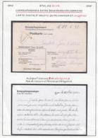 Belgique 1942 Stalag XIII A- Correspondance Entre 2 Frères Prisonniers. Carte Postale. Volet I.... (VG) DC5297 - WW II