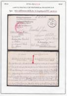 Belgique 1943 Stalag XIII A- Carte Postale. Reponse Au Prisonnier....................... (VG) DC5299 - WW II