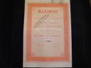 """Action """"Maximine""""Verviers 1929  (charbon)  Très Bon état,avec Tous Les Coupons. - Mines"""