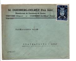 BELGIQUE LETTRE POUR LA FRANCE 1947 - België