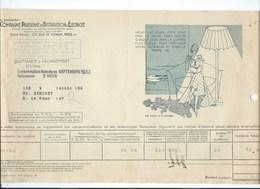 COMPAGNIE PARISIENNE De DISTRIBUTION D'ÉLECTRICITÉ Bureau DAMES Quittance 1933 Conseil Pour La Vue Bien 2 Scans - Electricité & Gaz