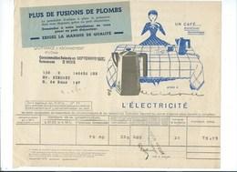 COMPAGNIE PARISIENNE De DISTRIBUTION D'ÉLECTRICITÉ Bureau DAMES Quittance 1932 Cafetière électrique Bien 2 Scans - Electricité & Gaz