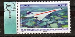 France PA 83a 2019 Concorde Avec Bord De Feuille  (feuille De 10) Neuf ** TB MNH Sin Charnela Faciale 4.2 - Aéreo