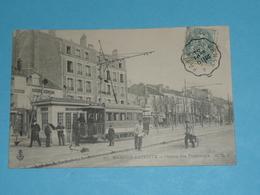 CPA, Carte Postale, Yvelines 78, Maisons Laffittes Station De Tramways, Animée, Tram - Maisons-Laffitte