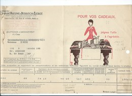 COMPAGNIE PARISIENNE De DISTRIBUTION D'ÉLECTRICITÉ Bureau DAMES Quittance 1934 Cadeaux électriques Bien 2 Scans - Electricité & Gaz