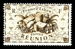 * N°245a, 10f Brun: Valeur Omise. TTB (certificat)  Qualité: *  Cote: 750 Euros - Réunion (1852-1975)