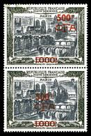 ** N°51, 1000F Paris, ESSAIS DE SURCHARGE Non émise En Rouge Sur Paire Verticale (infime Adhérence De Gomme En Partie Su - Réunion (1852-1975)