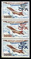 ** N°52a, (N° Maury), ESSAIS DE SURCHARGE NON EMISE: 1 Exemplaire En Bleu Et 1 Exemplaire En Rouge Tenant à Normal En Bd - Réunion (1852-1975)