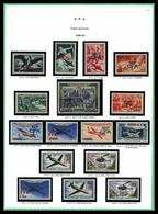 ** 'CFA', Collection Complète: POSTE N°281 à 432 , PA 45 à 62, Taxe N°36 à 54, Tous TB  Qualité: **  Cote: 1824 Euros - Réunion (1852-1975)