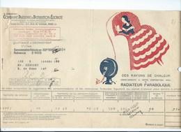 COMPAGNIE PARISIENNE De DISTRIBUTION D'ÉLECTRICITÉ Bureau DAMES Quittance 1934 Radiateur Parabolique  Bien 2 Scans - Electricité & Gaz