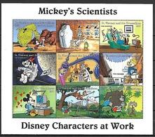 St Vincent Grenadines. DISNEY, PREHISTOIRE (secondaire) Feuillet 9 Valeurs Mickey's Scientists. ** MNH. - Préhistoire