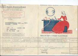 COMPAGNIE PARISIENNE De DISTRIBUTION D'ÉLECTRICITÉ Bureau DAMES Quittance 1934 Fer à Friser électrique  Bien 2 Scans - Electricité & Gaz
