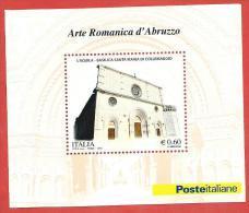 ITALIA REPUBBLICA FOGLIETTO MNH - 2010 - Arte Romanica D'Abruzzo - € 0,60 - S. BF61 - 6. 1946-.. República