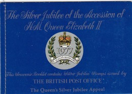 Great Britain 1977 - Silver Jubilee- Booklet With Block 4 X 9 P. And Black Print 9 P. - Carné
