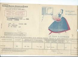 COMPAGNIE PARISIENNE De DISTRIBUTION D'ÉLECTRICITÉ Bureau DAMES Quittance 1933 Four électrique  Bien 2 Scans - Electricité & Gaz
