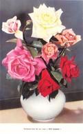 "1 Chromo Fleurs  ""Rose Wilt Resistant"" - Graines Gonthier  - Wanze-Huy - Geïllustreerde Kaarten"