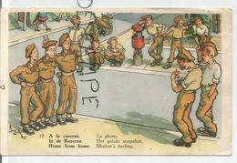 A La Caserne. La Photo. Soldats Posant Et Oreilles D'âne. Signée Bizuth 47 - Humoristiques