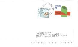 LETTERA X ITALIA CON £850 GRAND PRIX TENNIS 1989 - Saint-Marin