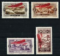 Gran Líbano (Francés) Nº A-13/16 Nuevo* Cat.20€ - Great Lebanon (1924-1945)