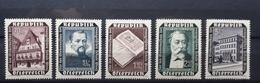 Österreich 1953, Wiederaufbau ANK 998-1002 MNH Postfrisch - 1945-.... 2nd Republic